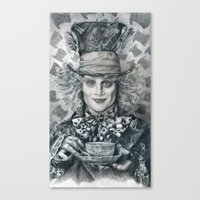 Mad Hatter - Johnny Depp… Canvas Print