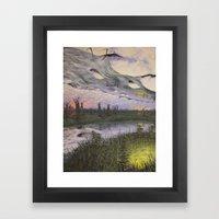 reversible landscape Framed Art Print