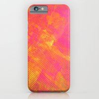 iPhone & iPod Case featuring Pink and Orange Stripes by Katie Troisi