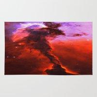 Red Nebula Rug