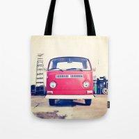 Vintage Volkswagen Bus Tote Bag