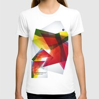 Abstrakt Womens Fitted Tee White SMALL