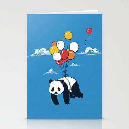 Flying Panda Stationery Card