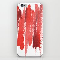 Red Strokes iPhone & iPod Skin
