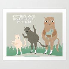 Kitten Fun. Art Print