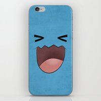 Wobbuffet Design - Minimalistic Poster iPhone & iPod Skin
