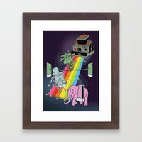 POLAROID SX70 CAMERA CIRCUS Framed Art Print