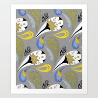 Breakfast Paisley Art Print