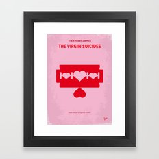 No297 My The Virgin Suicides minimal movie poster Framed Art Print