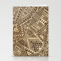 tribal Stationery Cards featuring Tribal  by Terry Fan