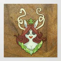 The Green Princess Canvas Print