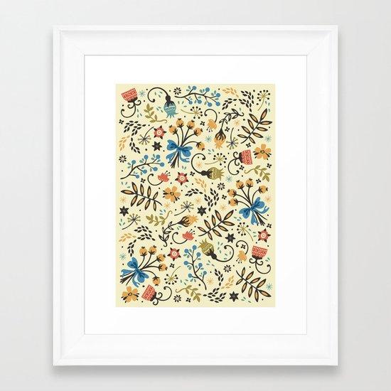 Floral Bloom Framed Art Print