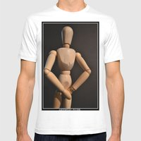 Artistic Nude Mens Fitted Tee White SMALL