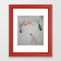 Goldfish Pond (close up #8) Framed Art Print