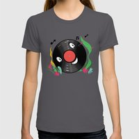 Vinyl Guy Womens Fitted Tee Asphalt SMALL