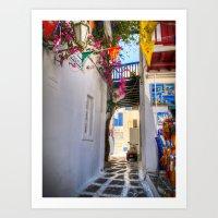Greece Santorini Island Art Print