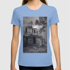 Ruins Womens Fitted Tee Tri-Blue SMALL