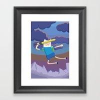 Finn The Human Is Gonna … Framed Art Print