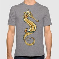 Seahorse Mens Fitted Tee Tri-Grey SMALL