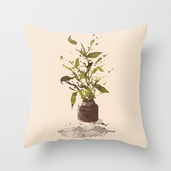 A Writer's Ink Throw Pillow