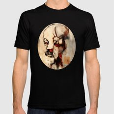 Portrait of a Distracted Man Mens Fitted Tee SMALL Black