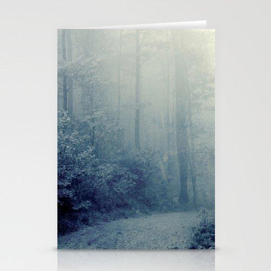 Wander in a Woodland Fog Stationery Card