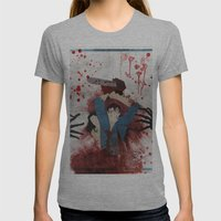 Evil Womens Fitted Tee Athletic Grey SMALL