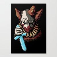 Clowns are Evil Canvas Print
