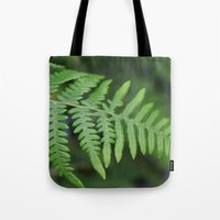 green fern leaves. floral nature wild plant photography. Tote Bag