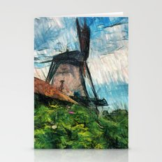 skatching windmill  Stationery Cards