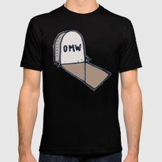 OMW Black SMALL Mens Fitted Tee