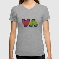 BP 82 V Diamonds Womens Fitted Tee Athletic Grey SMALL