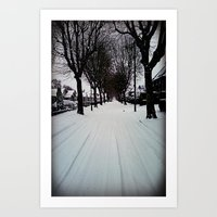 Urban Winter Art Print