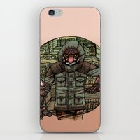 The Tiger and Concrete Jungle iPhone & iPod Skin