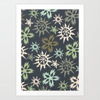 unlikely snowflakes Art Print