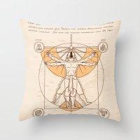 Vitruvian Aang Throw Pillow