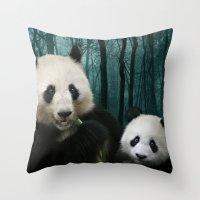 Giant Pandas Throw Pillow