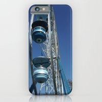 iPhone & iPod Case featuring blue ferris wheel by Cindy Munroe Photography