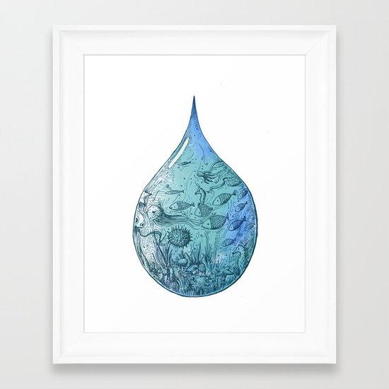 OCEAN DROP Framed Art Print