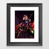 Dragon Age Inquisition - Eva the Qunari warrior Framed Art Print