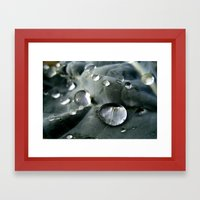 Drops World Framed Art Print