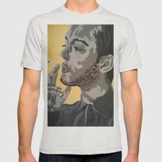 A Casual smoke  Mens Fitted Tee Silver SMALL