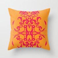 Creamsicle - Pink Throw Pillow