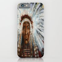 native american iPhone & iPod Cases featuring Native American by Mary J. Welty