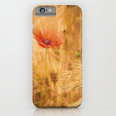 Fiery poppy in a golden cornfield iPhone 6 Slim Case