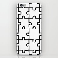 white puzzle iPhone & iPod Skin