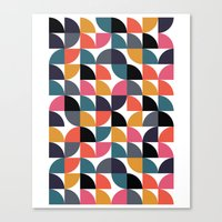 Quarter pattern Canvas Print