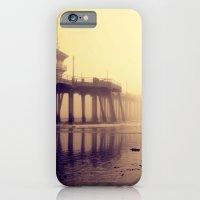 iPhone Cases featuring Huntington Beach Pier by Kameron Elisabeth