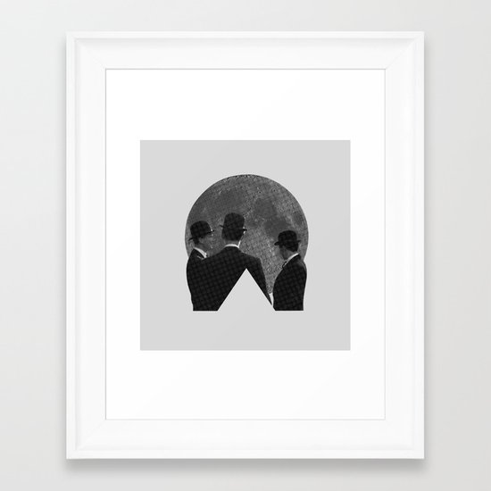 MOON CONFERENCE Framed Art Print