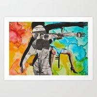 We Escape: Silhouette Series #10 Art Print